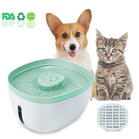 Fuente De Agua para Gatos Y Perros - Bebedero De 2.2 litros con Filtro Y Bomba