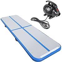 Rolimate - Alfombrilla hinchable para entrenamiento de gimnasia, yoga, taekwondo, flotante de agua y camping, antideslizante, con bomba eléctrica de 500 W e incluye bolsa de transporte