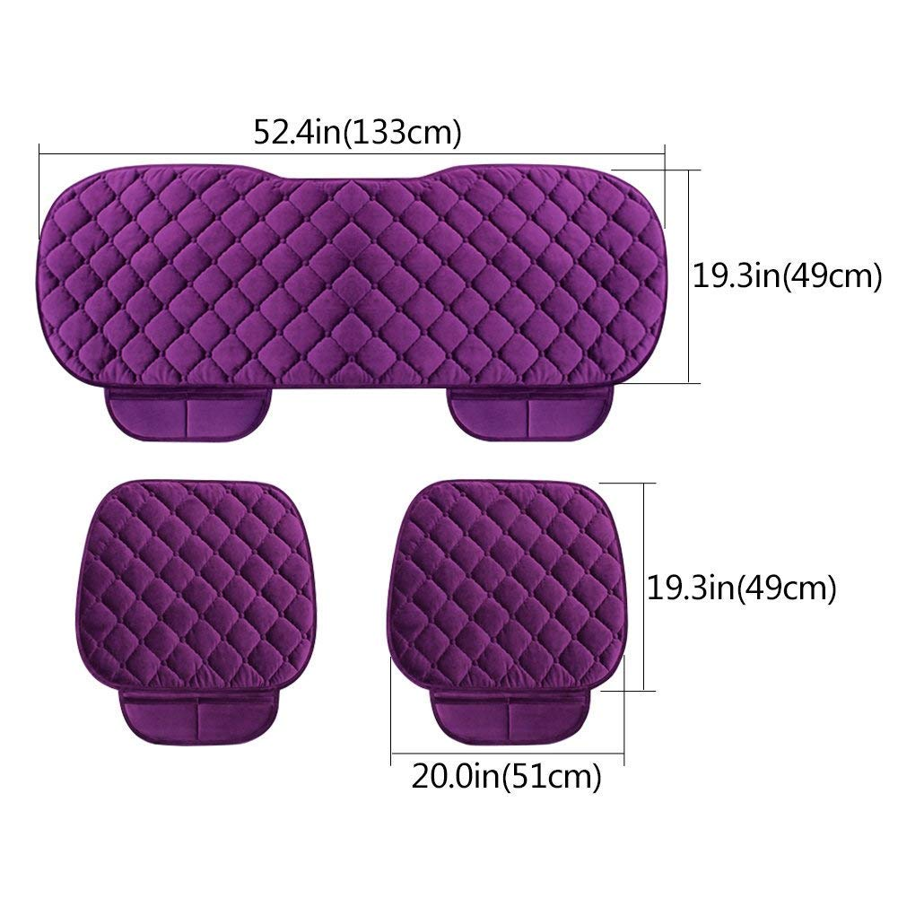 2+1 Front Seat Covers /& Rear Seat Covers HCMAX Soft Car seat Cover Cushion Pad Mat Protector for Auto Supplies for Sedan Hatchback SUV