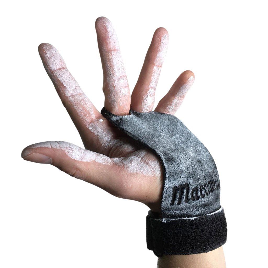 MACCIAVELLI - Pull Up Grips, Hand Grips, Wodies für Calisthenics, Crossfit, Freeletics, Gymnastik,Turnen (Schwarz, M)