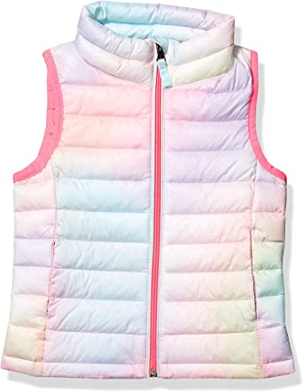 Essentials girls Water-Resistant Packable Puffer Vest