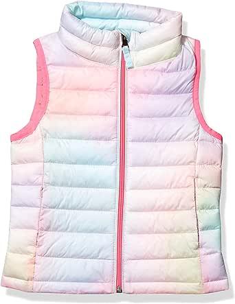Amazon Essentials Lightweight Water-Resistant Packable Puffer Vest Outerwear-Jackets Niñas