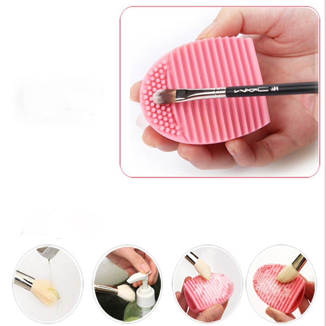 HiMo Cleaning MakeUp Washing Brush Silica Glove Scrubber Board Cosmetic Clean Tools