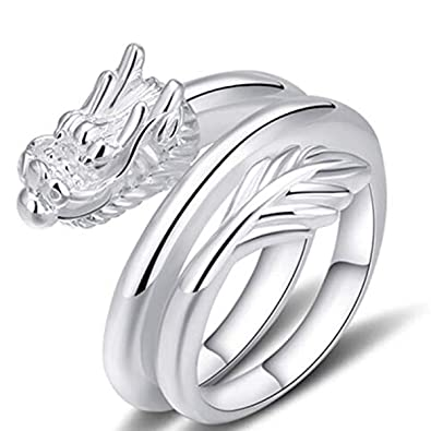 Juyude Silver Ring Faucet Smooth Face Ring Men S Domineering