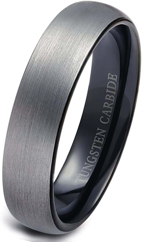 Black HEMATITE Basic Ring Band for Jewlery Collier Making Taille 6-R30