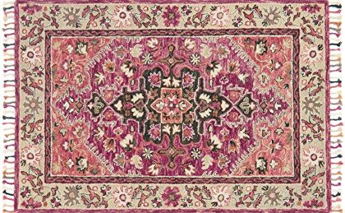 Raspberry Rug Rug - Loloi Rugs, Zharah Collection - Raspberry / Taupe Area Rug, 3'6