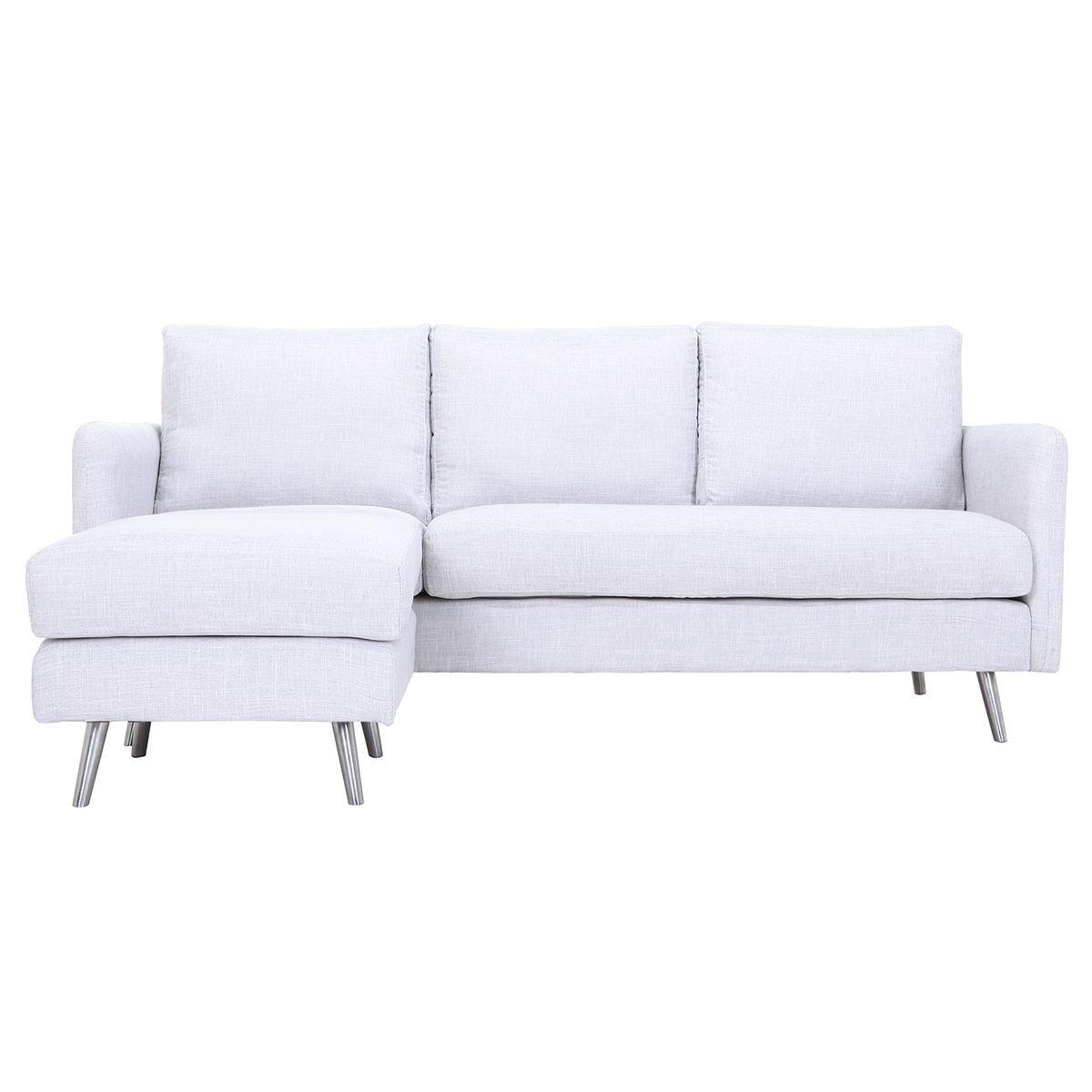 Miliboo - Sofá de Esquina Reversible diseño 3 plazas Gris ...