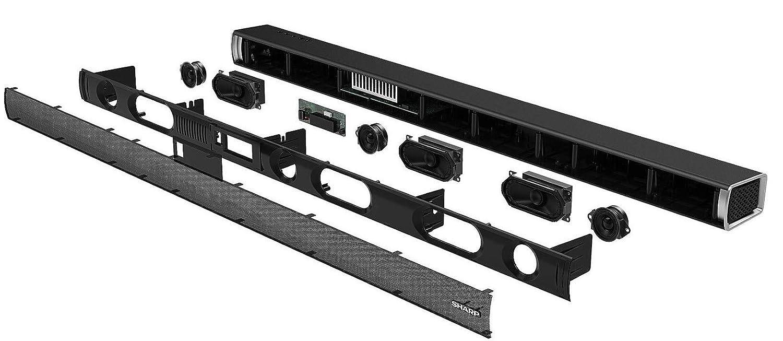 3.1 Dolby Atmos Soundbar mit virtuellem 3D Surround Sound und kabellosem Subwoofer Schwarz HDMI ARC//CEC SHARP HT-SBW460 Bluetooth 4K-Erlebnis