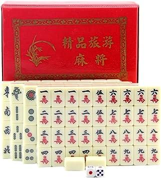 Blesiya Juego Tradicional de Mesa de Mahjong Chino para Viaje ...