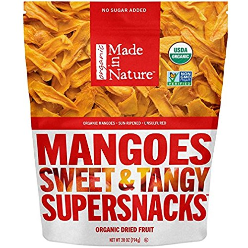 Made in Nature Organic Super Snacks, Dried Mango, 3 Pack (28 Ounce each) JCN@I by Made in Nature