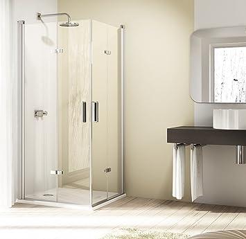 90 x 190 schwingfalt Puerta Hüppe Diseño Elegance (Cristal, transparente: Amazon.es: Bricolaje y herramientas