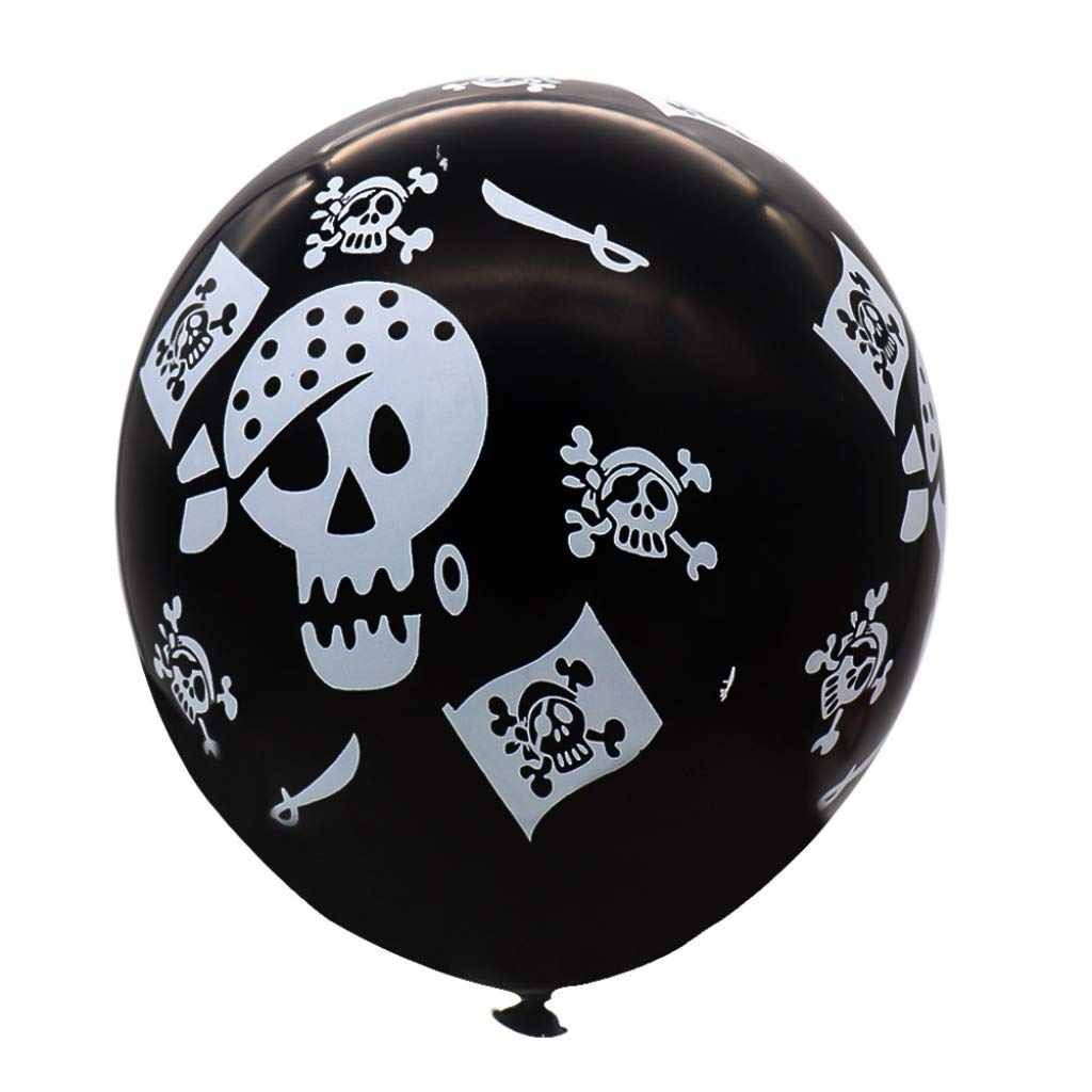 yuehuxin - Globos de látex con diseño de Calavera y Piratas ...
