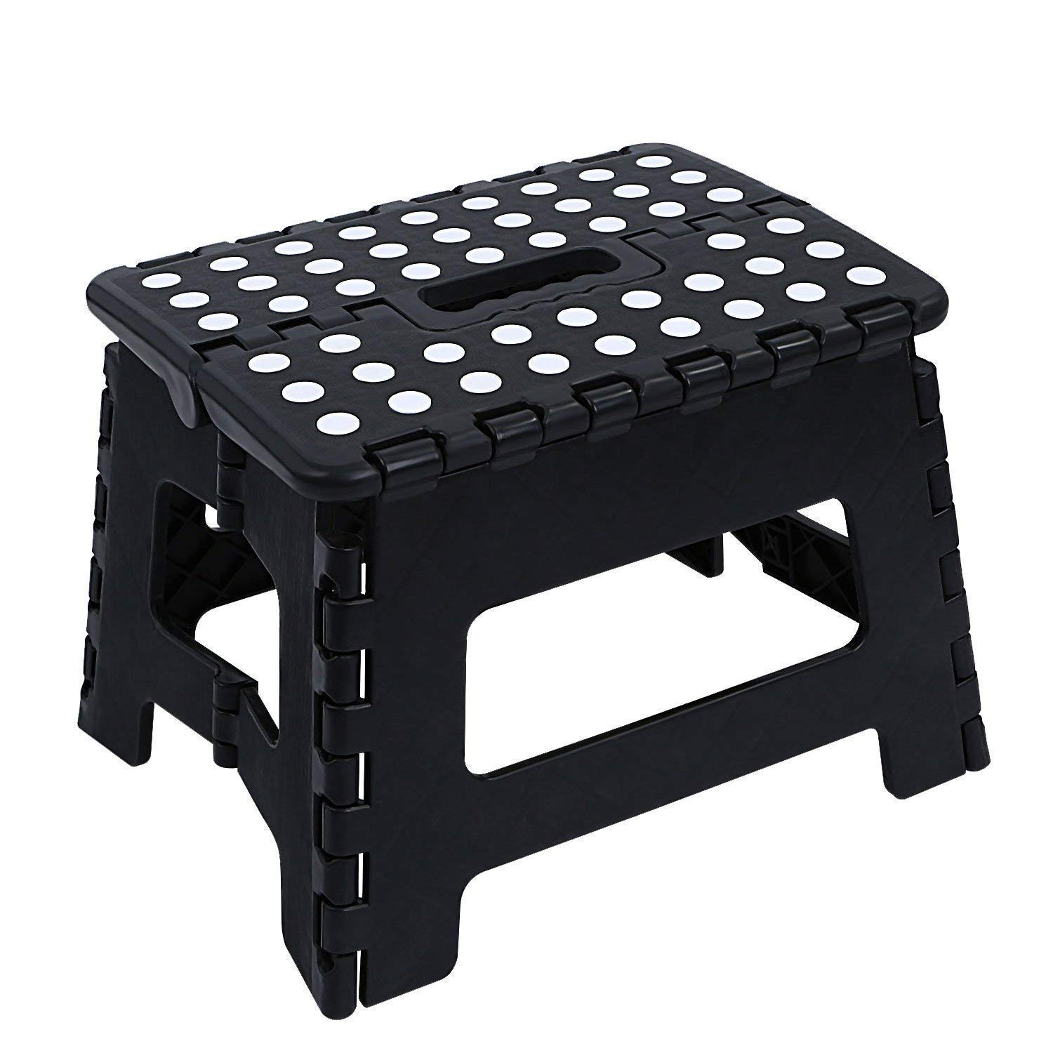 Maddott Super Strong Folding Step Stool,11x8.5x8.5inch, 2pc, Holds up to 250 Lb, Black
