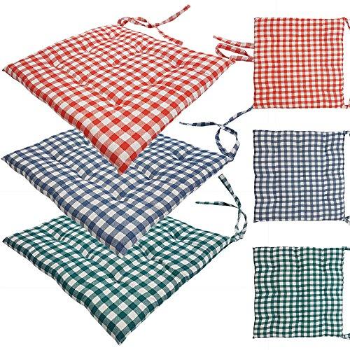 proheim-Stuhlkissen-Karo-40-x-40-cm-9er-Steppung-gepolstertes-Sitzkissen-bequeme-komfortable-Sitzauflage-in-Sparsets-Farbwahl