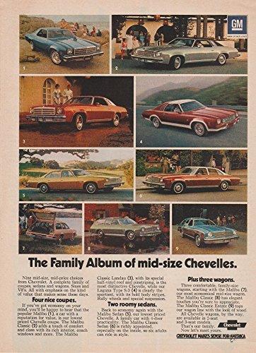 1974 CHEVROLET CHEVELLE MALIBU, MALIBU CLASSIC & MALIBU CLASSIC LANDAU ALL MODELS