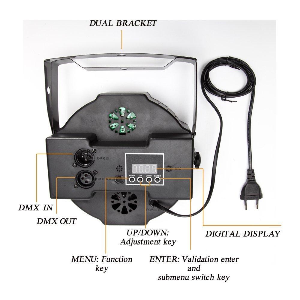 Solmore - Lámpara de escenario PAR con 127 luces LED RGB. Ideal para escenarios, DJ, karaoke, bares, etc. Carcasa de plástico color negro: Amazon.es: ...