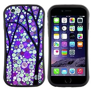 "Hypernova Slim Fit Dual Barniz Protector Caso Case Funda Para Apple (5.5 inches!!!) iPhone 6 Plus / 6S Plus ( 5.5 ) [Invierno Purple Luces de nieve""]"