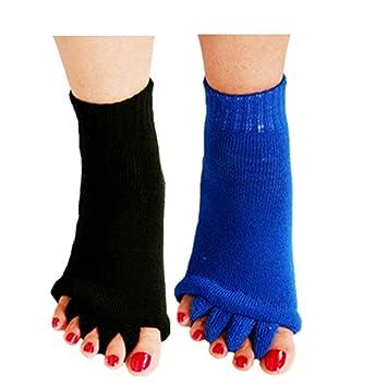 Amazon.com: minjie pie alineación calcetines dedos separador ...