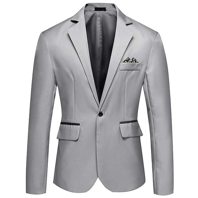 YOUTHUP Chaqueta de Traje para Hombre Blazer Elegante Slim Fit