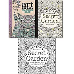 Secret Garden Colouring Book Collection With Postcards An Inky Treasure Hunt And 20