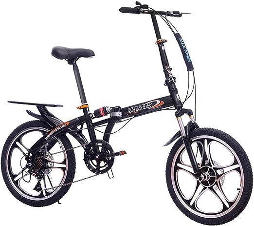 DPGPLP Bicicleta Plegable de 20 Pulgadas: Frenos de Doble Disco de ...