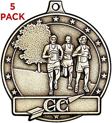 Cross Country Runner Award Medals with FREE Neck Ribbon