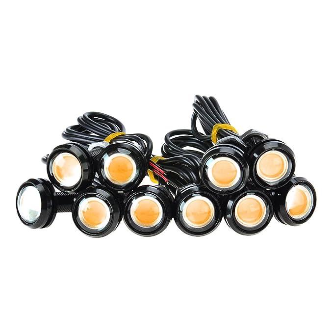 8 opinioni per 10Pcs alta potenza Amber 9W LED Eagle Eye Ammortizzatore DRL nebbia luce di