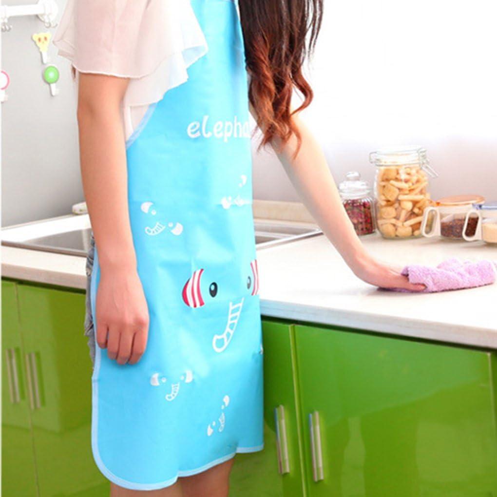 Bobury Delantal impermeable de la cocina delantal ver en 3 estilos