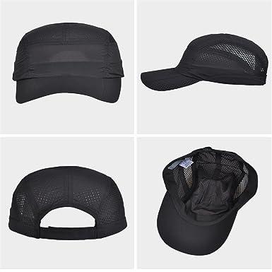 9b88367c2fc Amazon.com  Kenmont Race Running Cap Athletics Ultralight Mesh Performance  Hat Outdoor Sports Hat (Black)  Clothing