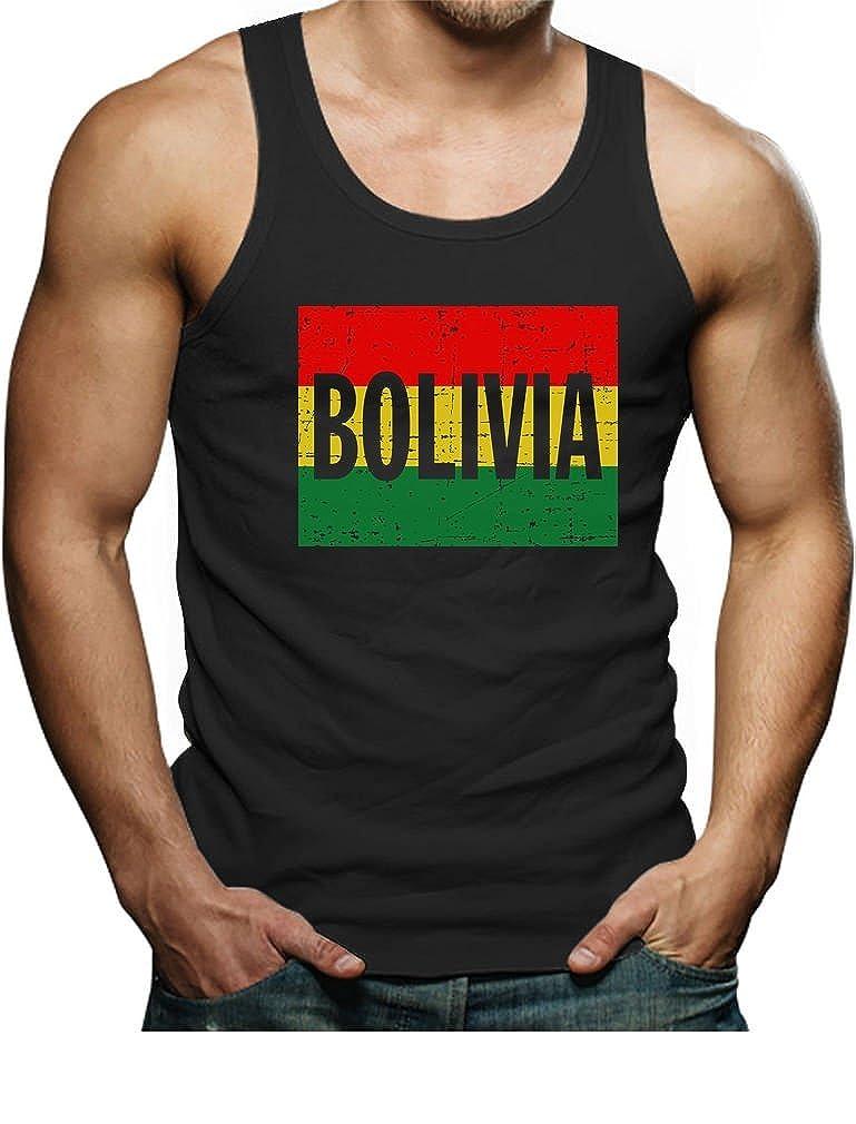 Vintage Retro Bolivia Singlet TeeStars Bolivian Flag