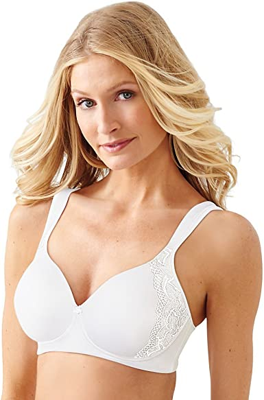 Bali Women/'s One Smooth U Back Smoothing Wirefree Bra 36DD White