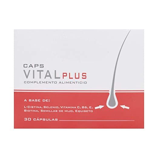 Amazon.com : Vital Plus 30 Capsules - Fight Excessive Hair Loss - Hair Regrowth Treatment - Strengthen the Bulb From the Inside - Prevent Your Hair From ...