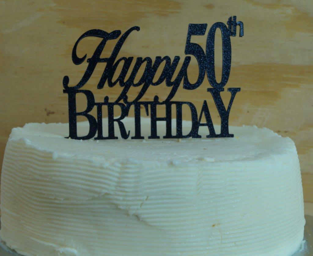 Amazon Black Happy 50th Birthday Cake Topper Kitchen Dining