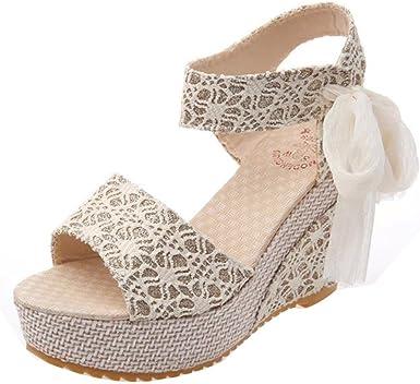 Sandalias Mujer 2018 Sandalias Y Chancletas De Tacón Alto Plataforma Para Mujer Zapatos De Playa Verano Moda Mocasines Zapatos 37 Blanco Amazon Es Ropa Y Accesorios