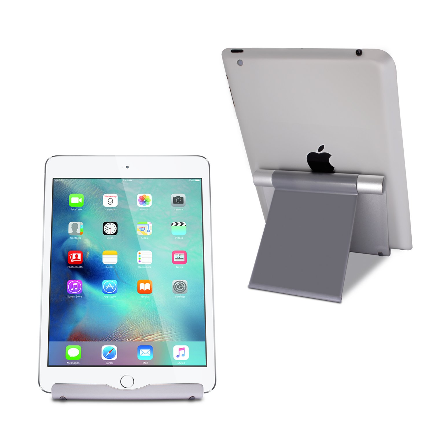 TechMatte iPad Pro Stand, Multi-Angle Aluminum Holder for iPad Pro 12.9 10.5 9.7 inch Tablets, E-readers and Smartphones,Nintendo Switch - XL-Size Stand by TechMatte (Image #4)