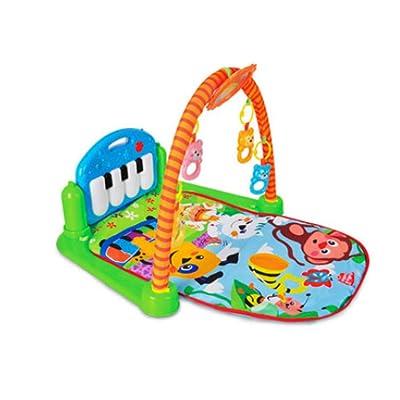 XLLLL Pedal De Bebé Piano Estante De La Aptitud Multi-función Infantil Play Mat Alfombra Arrastrándose Iluminación Música Juguetes Electrónicos,Blue: Hogar