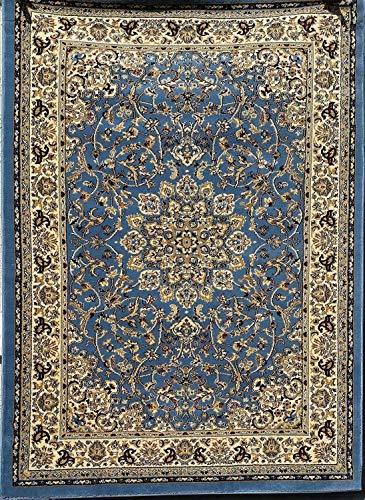 Deir Debwan Traditional Persian 330,000 Point Oriental Blue Burgundy Black Beige Green Design 603 (4 Feet X 5 Feet 9 Inch)