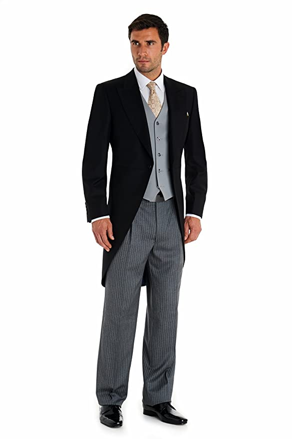 Edwardian Men's Formal Wear Royal Ascot Mens Regular Fit Three Piece Morning Suit $674.00 AT vintagedancer.com