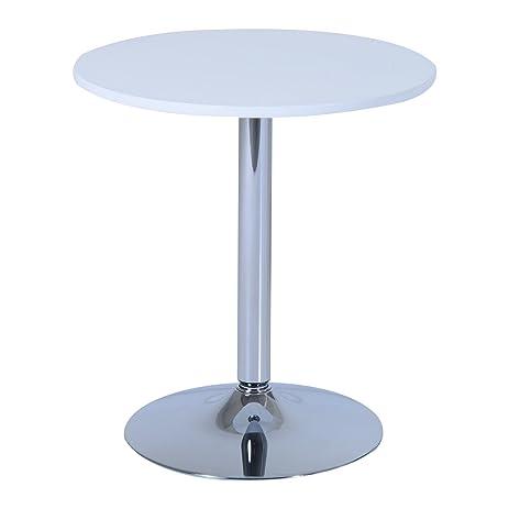 HomCom 26u0026quot; Round Pub Bistro Table   White