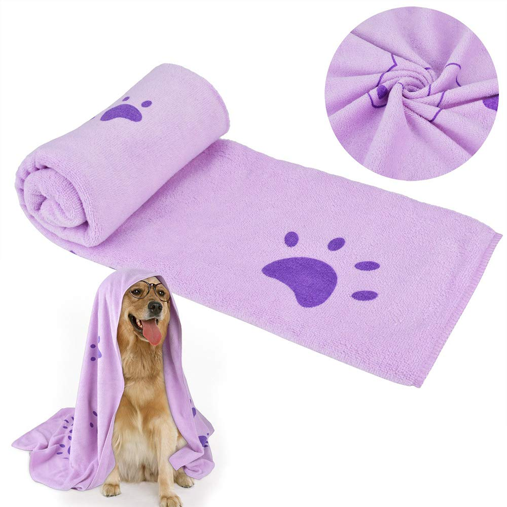 Dog Towels Personalised, Dog Towels Microfiber, Dry Up 4 Times Quicker Than Regular Towels, Can Last for Long-Time Use, Perfect Towel of Pet Dogs and Cats