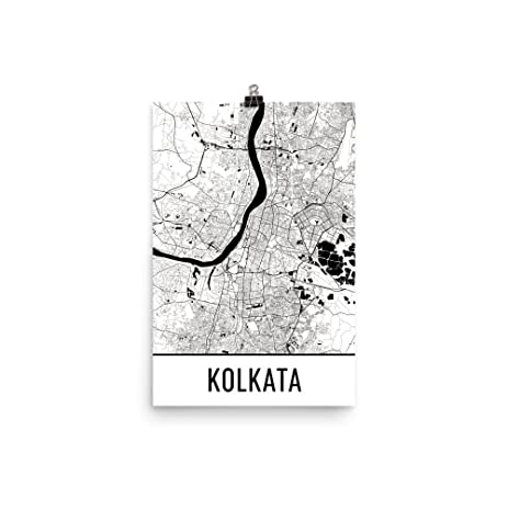 Kolkata print kolkata art kolkata map kolkata india poster wall