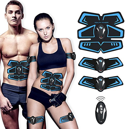 【New Version 2018】Abdominal Toning Belt,EMS Abs Trainer Fitness Slimming Body Sculptor Muscle Trainer Butterfly ab Belt Gym Massager Pad Abdominal Muscle Exerciser Belts Fat Burner