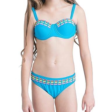 00698d5f0a ACVIP Enfant Ensemble Maillot de Bain Bikini 2 Pièces Bretelle+Culotte  Swimwear Plage Eté pour Fille: Amazon.fr: Vêtements et accessoires