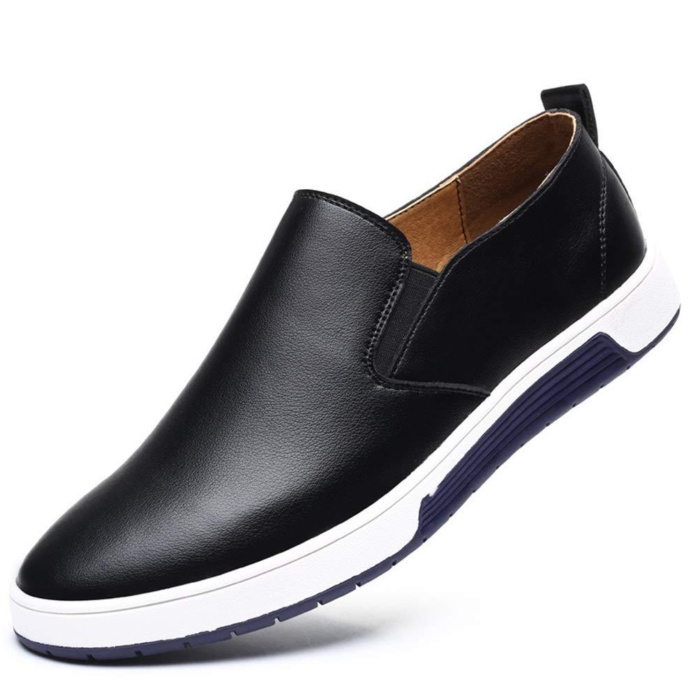 Qiusa Weiche Sohle Toe Schuhe für Männer Plain Toe Sohle Slip auf große Größe Outdoor blau schwarz braun Slipper (Farbe : Schwarz, Größe : EU 42) - eb2d07