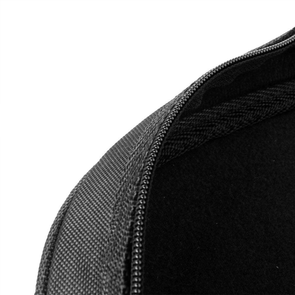 Flexzion Senior Trumpet Gig Bag Case Durable Soft Nylon Padded Portable Instrument Accessory with Double Zippers and Adjustable Shoulder Strap in Black by Flexzion (Image #7)