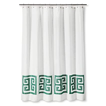 Threshold Greek Key Shower Curtain 72quot