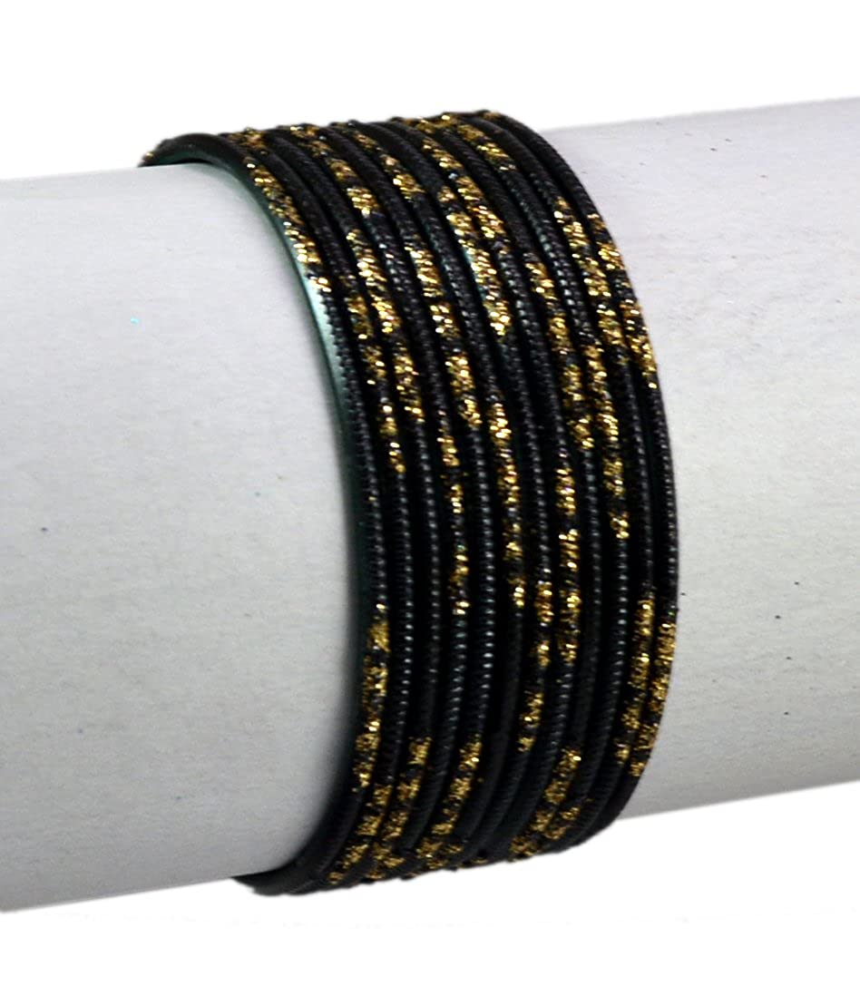Black Color Indian Trditional Bollywood Fashion Party Wear Metal Bangles Chudi