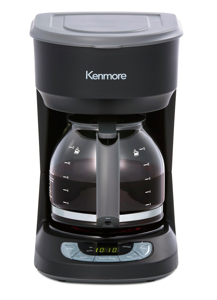 Kenmore 40706 12-Cup Programmable Aroma Control Coffee Maker in Stainless Steel 840706