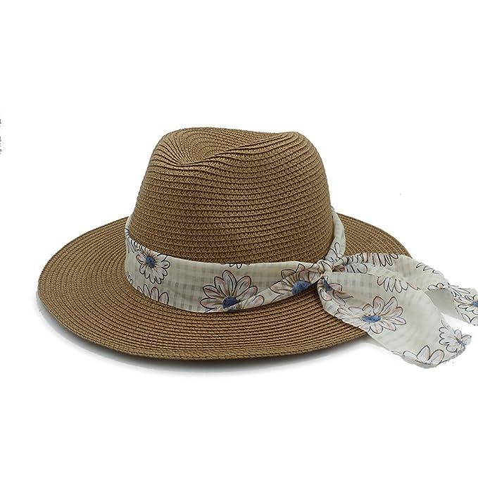 RZL Sombreros Gorras Para Elegante Señora Panama sombrero Bowknot Fedora Sombrero, 2017 señoras de moda
