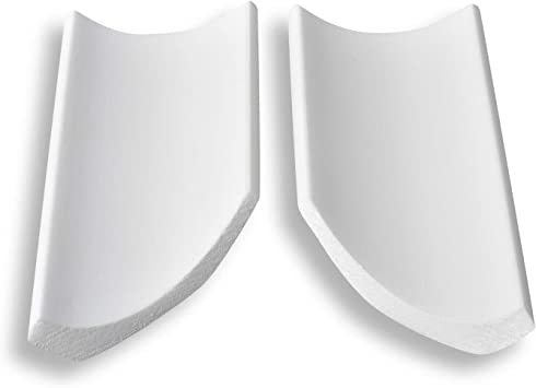 4 Ecken Zierleiste aus Styropor 40 x 45 mm DECOSA Innenecke f/ür Zierprofil S50 SOPHIE 20 cm L/änge Edle Stuckleiste in Wei/ß F/ür Decke und Wand 8 Leisten /à ca